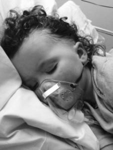 Eva in hospital